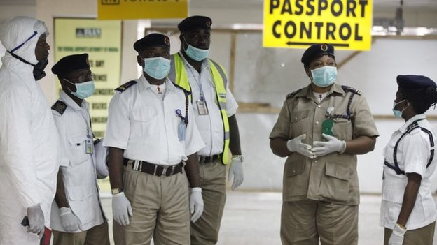 Airports in Nigeria are now screening passengers for Ebola on arrival