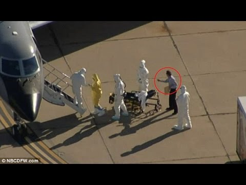 Everyone in Hazmat suits but one with a suit on. Makes no sense right?