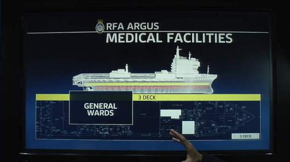 Floating Ebola hospital? Or safe zone?