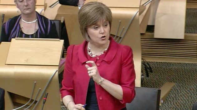 Nicola's first act is to pressure Westminster
