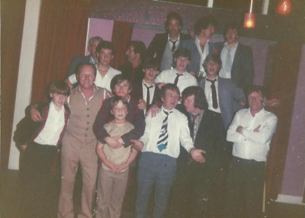 Little Shaun is circled in red bottom left, this was 'Family'