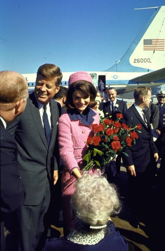 John and Jackie Kennedy at Love Field in Dallas, Texas, on Nov. 22, 1963.