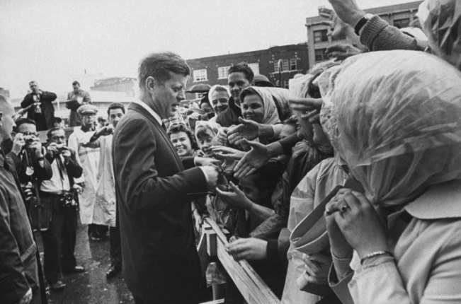 . President John Kennedy greets admirers in Fort Worth, Texas, Nov. 22, 1963, shortly before flying to Dallas.