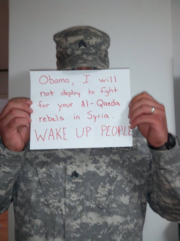 """'OBAMA' """"I WILL NOT FIGHT FOR YOUR AL QAEDA"""" - WAKE UP! - Who is this aimed at? Same as these Israel soldiers are saying? What if NOBODY wants to shoot anyone? What then?"""