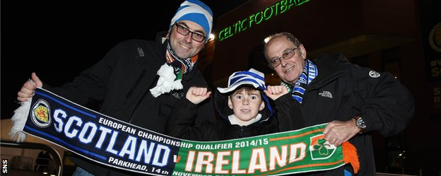 There were many split loyalties at Celtic Park ahead of kick-off