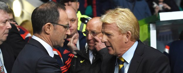 Republic of Ireland's Martin O'Neill and Scotland counterpart Gordon Strachan are both former Celtic managers