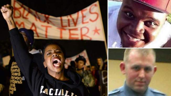 Michael Brown , Darren Wilson. protester