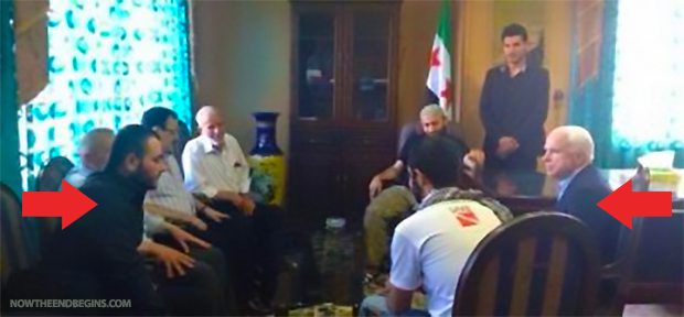John McCain photographed in secret meeting with Abu Bakr al-Baghdadi, the Commander of the Islamic State terror group known as ISIS. Is this where the funding for ISIS came from?