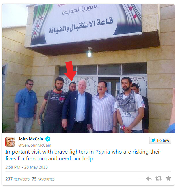 Go check John McCain's Twitter, these images are still there. Why did he meet IS/ISIS/Islamic State