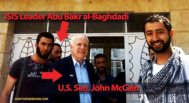 McCain with the ISIS Leader. He did it in full front of the media. Let's see where the story goes