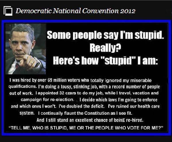 REALLY! WHO IS THE STUPID ONE? THIS MUST BE FACED UP TO AND LOOKED AT AMERICA
