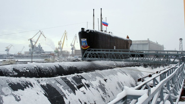 The Yury Dolgoruky nuclear-powered submarine