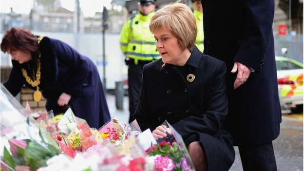 Our first minister Nicola Sturgeon at the scene. I have a video of her crying, holding a loved one of one who passed, I can't and won't share
