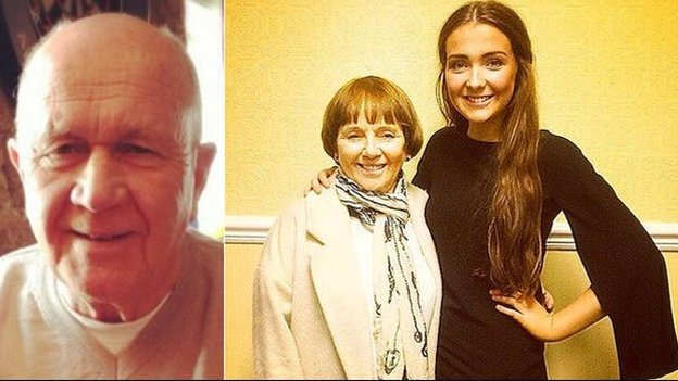 Jack Sweeney and his wife Lorraine with their granddaughter Erin McQuade - SO SAD..R.I.P