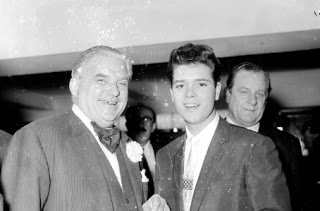Cliff Richard, whose home is near to where Madeleine McCann disappeared, with Winston Churchill's close friend Lord Boothby, who reportedly was involved with child sex rings for the elite..