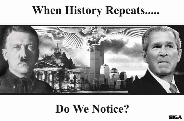Bush and Hiltler History Repeats