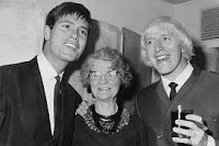 Tony Blair's friend Cliff Richard (left) with Sir Jimmy Savile, who allegedly supplied boys to the elite for sex.