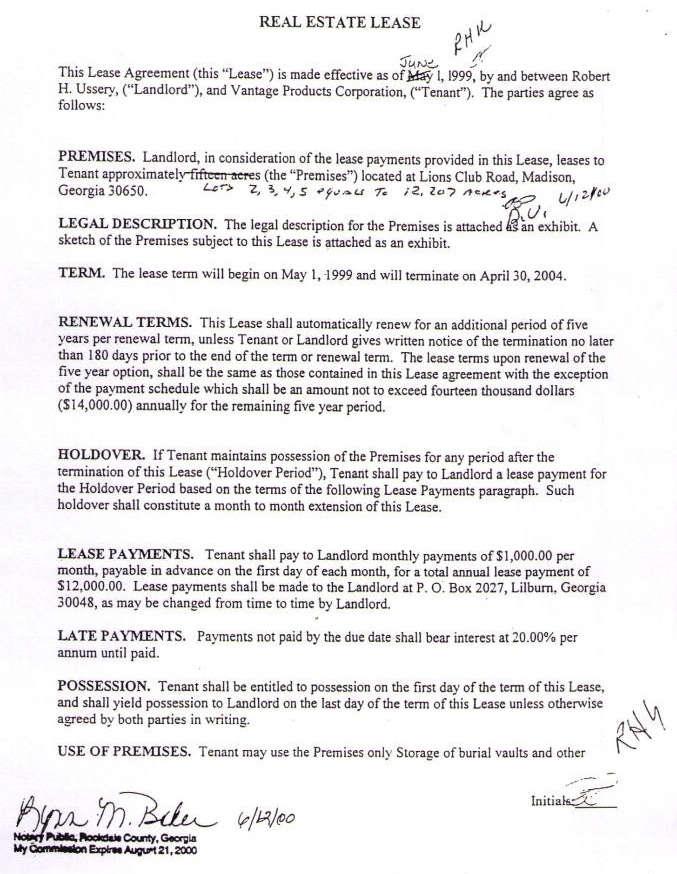 A legal document. USA Government paid WELL for lease of land to hold  these black 3 person coffins