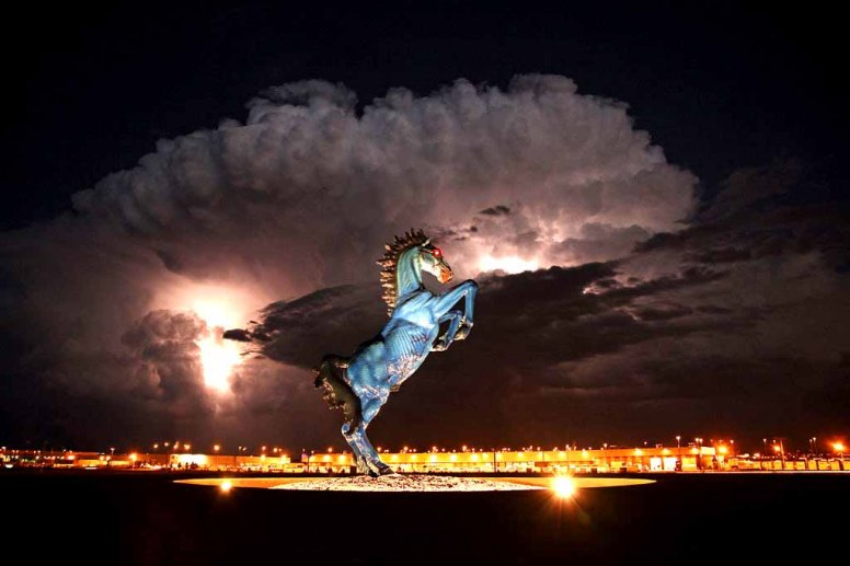 What does a big blue horse represent? Religious? You should know