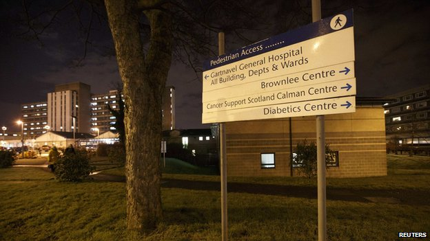 The woman is being treated in isolation at Gartnavel Hospital in Glasgow