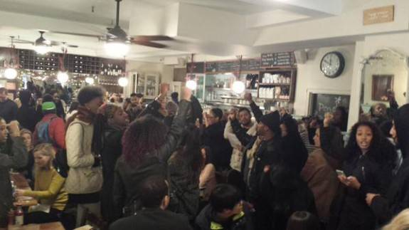 #blackbrunchnyc at Penelope. Some stood, some grabbed arms and screamed in our faces. We know which side you're on.""