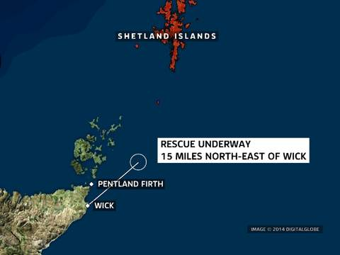 NorthEast Scotland, The search has been taking place northeast of Wick