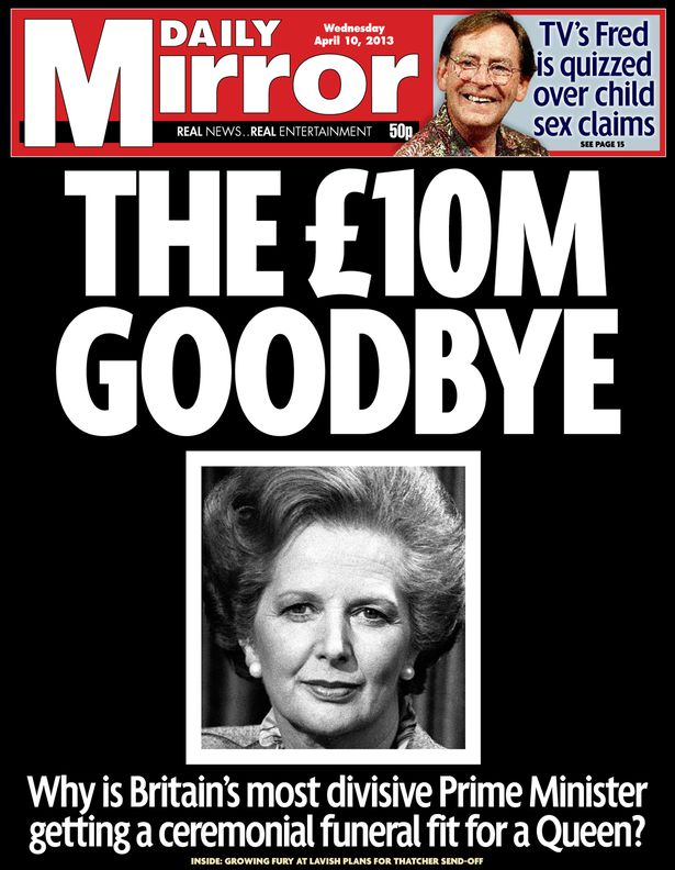 Daily-Mirror-front-page--April-10th-2013--Thatcher-funeral